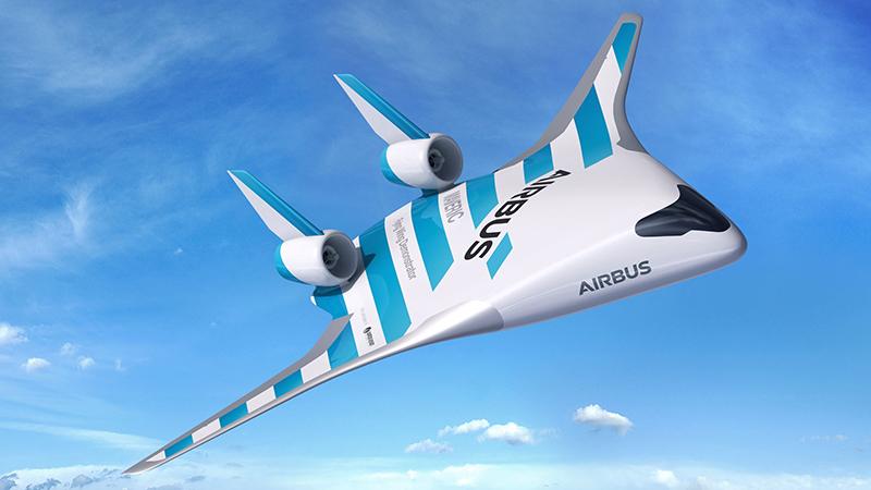 Літак майбутнього від Airbus: літак зі змішаним крилом MAVERIC