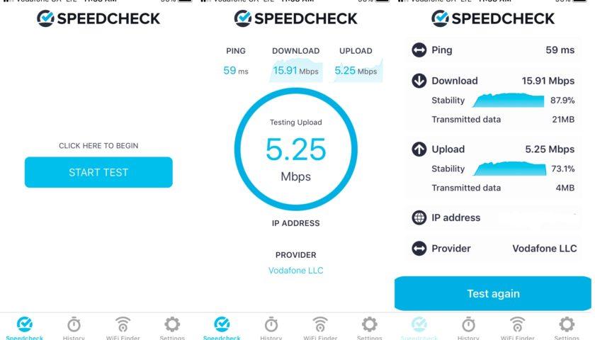 Отримати об'єктивну оцінку зв'язку найпростіше за допомогою speedcheck